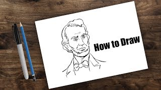 How to draw Abraham Lincoln Step by Step | Simple Line drawing