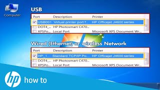 check the Printer Driver and Port in Windows 7  HP