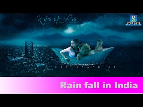 UPSC Exam preparation: Rain fall in India.