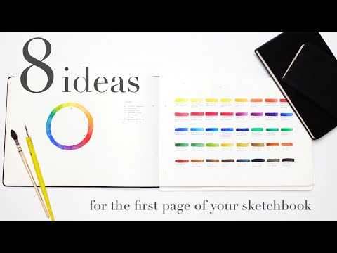 8 ideas for the first page of your sketchbook