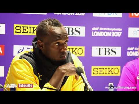 USAIN BOLT SAYS DRUG CHEATS SHOULD GET BANNED FOR LIFE IN HIS FINAL PRESS CONFERENCE