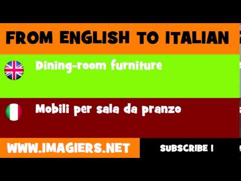 How to say Dining room furniture in Italian  YouTube