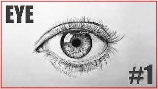 step realistic beginners eye draw drawing easy tutorial