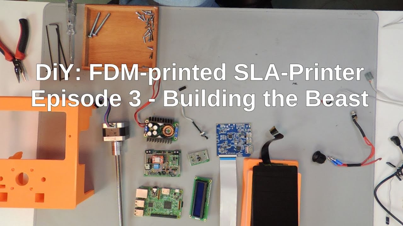 DIY: FDM-printed SLA-Printer: Part 3 by Tinkering On Steroids
