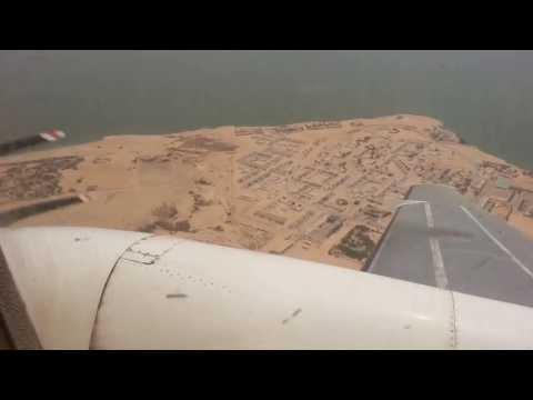 Landing in Nouadhibou, Mauritania