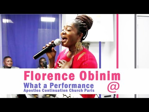 Florence Obinim  performs at Apostles Continuation Church France