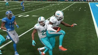 Madden 19 Miami Dolphins vs Detroit Lions Gameplay