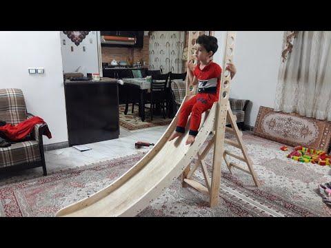Homemade wooden slide