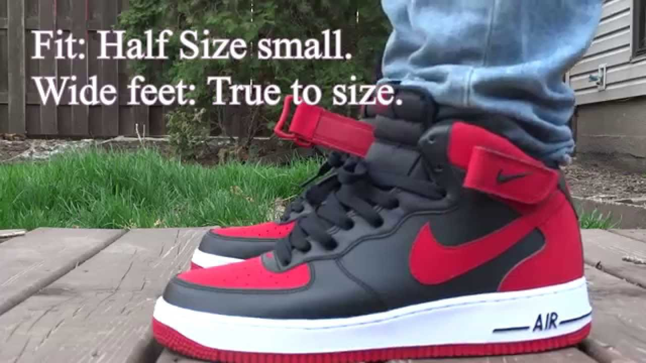 1885c19c11bc Nike Air Force 1 Mid  Bred  On Feet - YouTube