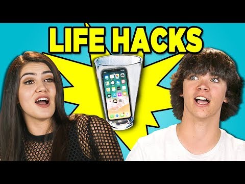 Thumbnail: 10 LIFE HACKS YOU NEED TO KNOW with TEENS (REACT)