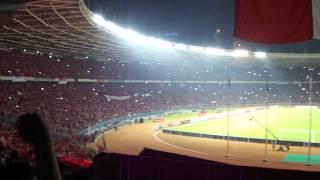 INDONESIA - TURKMENISTAN 28.July.2011 (Indonesia Raya Song)