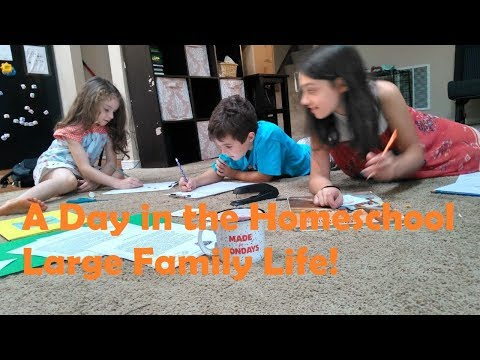 A Day in Our Large Family Homeschool Life - DITL