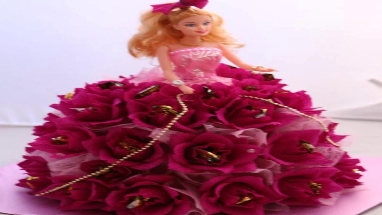 кукла в платье из конфет своими руками - YouTube