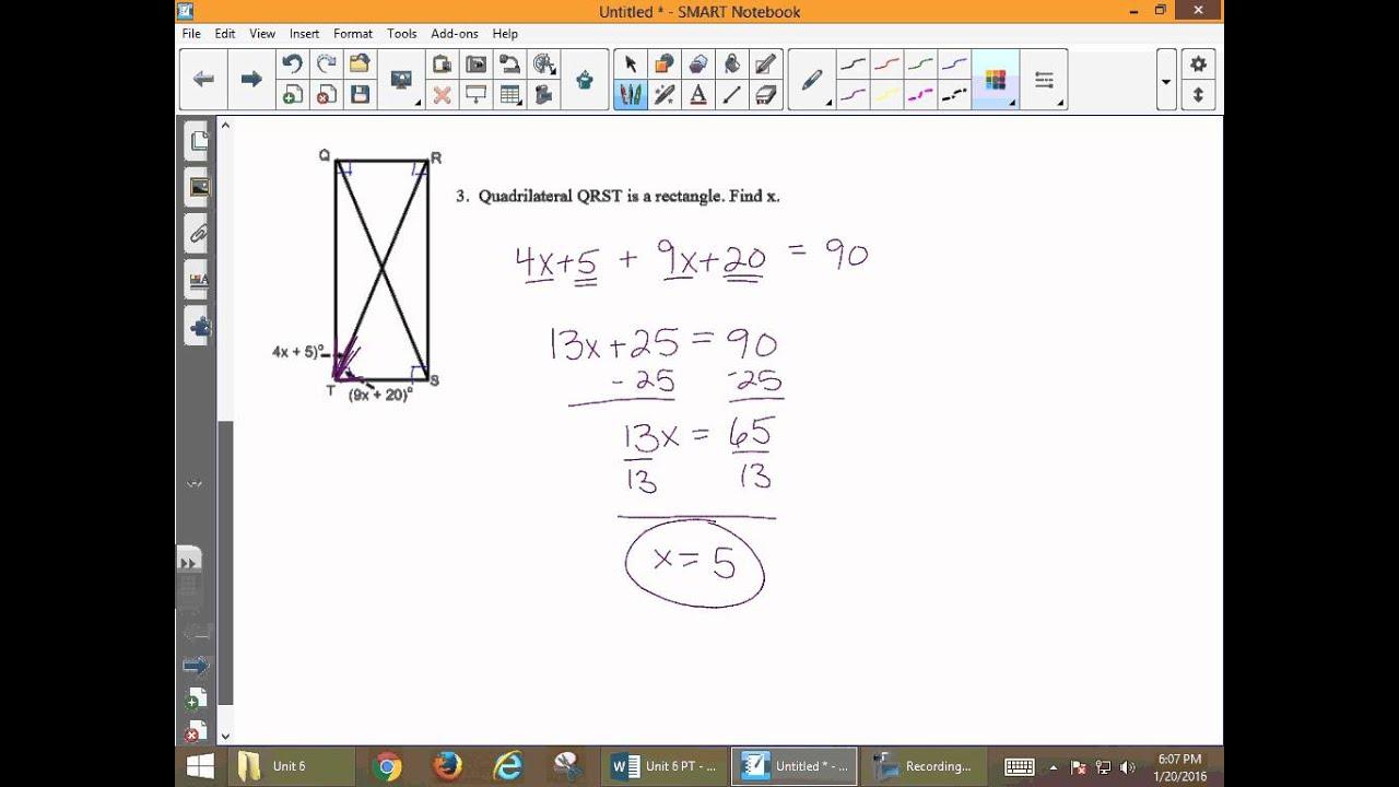 Unit 6 Geometry Practice Test Key - YouTube