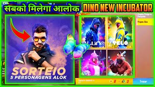 FREE FIRE NEW YEAR 2020 NEW EVENT DETAILS || ALOK CHARACTER AND NEW INCUBATOR BUNDLE || MG MORE