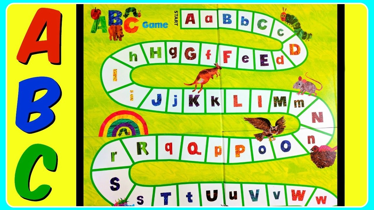 The Very Hungry Caterpillar Spin & Seek ABC GAME! Fun Educational ABC Alphabet Video For Kids