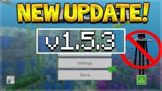 NEW MCPE 1.5.3 UPDATE! Minecraft Pocket Edition - 4D SKINS REMOVED From The Game!