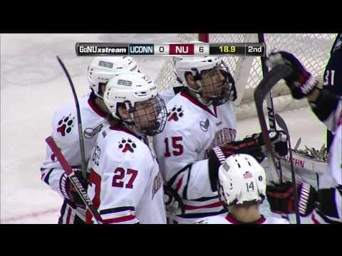 Northeastern Huskies Complete Two Hat Tricks in 9-0 Win