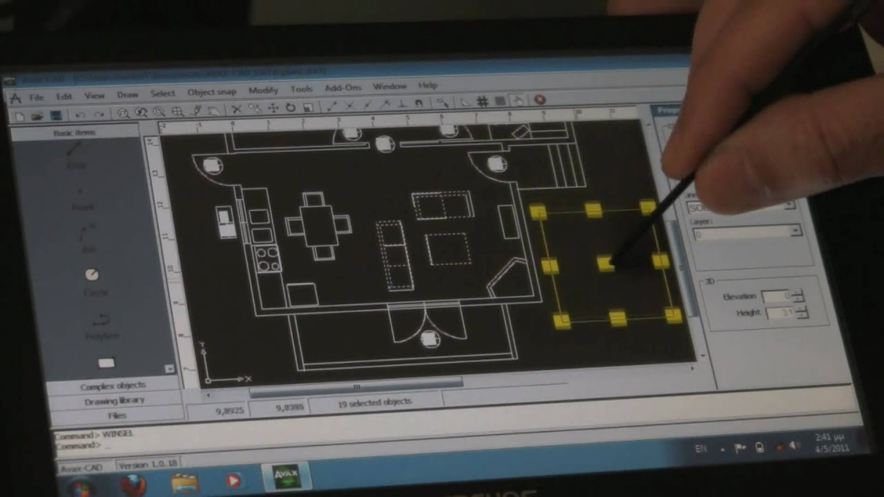Avax Cad On Tablet Pc Youtube