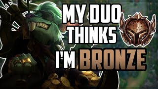"My Duo Thinks I'm BRONZE and ""Coaches"" Me How to Play 