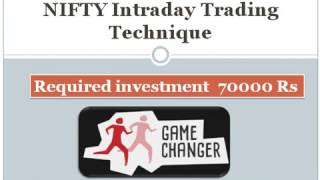 NIFTY intraday trading techniques with 70k investment minimum 15 % returns Part 1