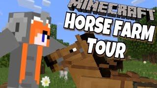 MINECARFT PE WORLD TOUR! Minecraft PE Horse Farm World