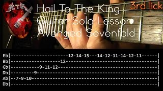 Hail To The King Guitar Solo Lesson - Avenged Sevenfold (with tabs)