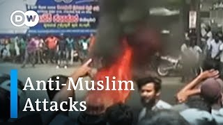 Anti-Muslim mobs in Sri Lanka have attacked mosques, Muslim-owned b...
