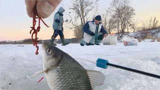 Ловля Карася на Тяжелую Мормышку Зимой со Льда Зимняя рыбалка 2020 21