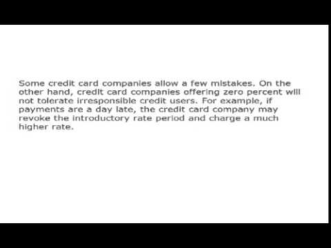 Zero Percent Interest Credit Cards   Applying For A Low Introductory Rate Card