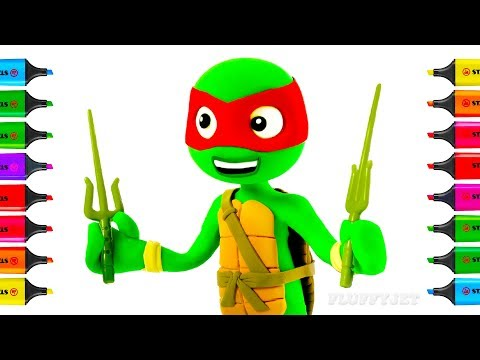 How to Draw Teenage Mutant Ninja Turtles TMNT | Coloring Pages for Children | Art Colors for Kids