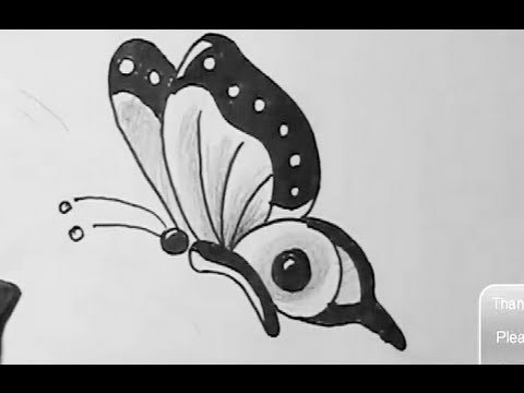 How to draw easy butterfly yzarts