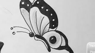 How to draw easy butterfly | YZArts