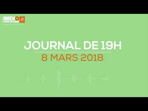 Le journal de 19h00 du 8 mars 2018 - Radio Côte d'Ivoire