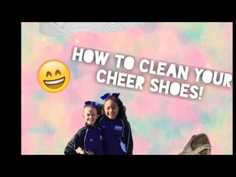HOW TO CLEAN YOUR CHEER SHOES!!!