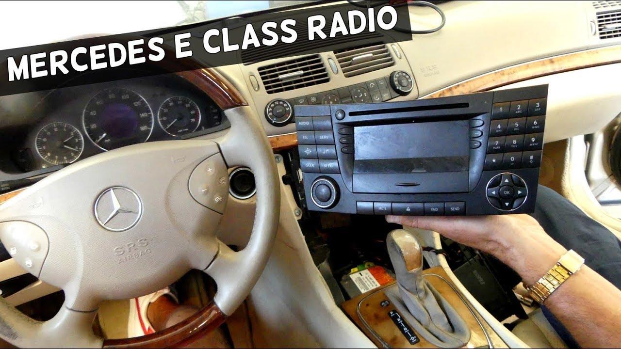 How To Remove Radio On Mercedes W211 Radio Replacement