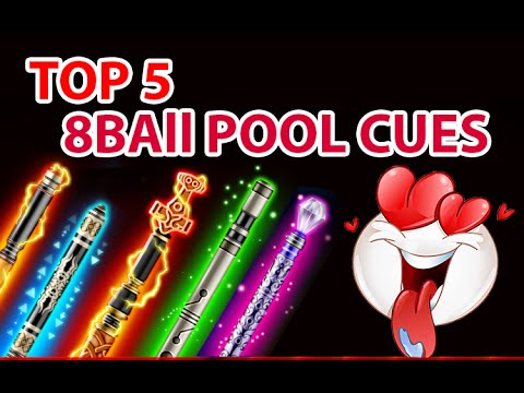 Top 5 8 Ball Pool Cues Compilation | Bought using 8 ball pool coins