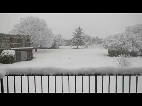 First Chicago Snow 2016