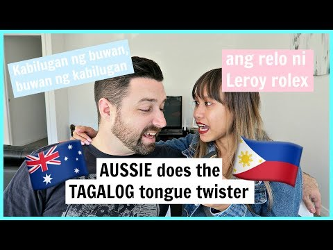 AUSTRALIAN DOES THE FILIPINO TONGUE TWISTER CHALLENGE | rhaze