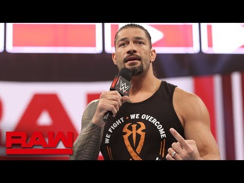 Roman Reigns Announces He Is In Remission: Raw, Feb. 25, 2019