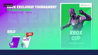 Gambar cover Fortnite Xbox Cup Watching Live Games