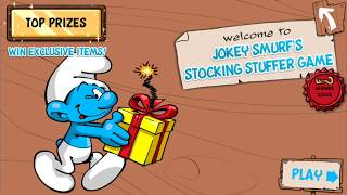 Jokey Smurf's Stocking Stuffer Game in Smurfs' Village