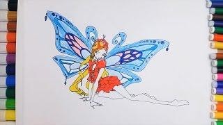 Dibuja y Colorea Una Mariposa de Arco Iris - Learn Colors - Dibujos Para Niños / FunKeep