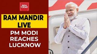 Ram Mandir Live Updates: PM Narendra Modi Reaches Lucknow, Will Now Take a Chopper to Ayodhya