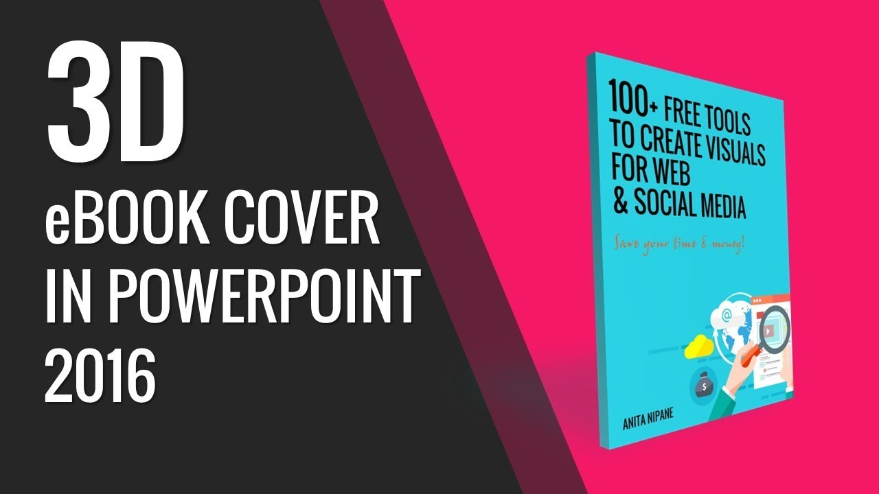 How To Make A Book Cover Using Powerpoint ~ How to create d e book cover in powerpoint youtube
