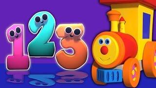 Ben tren y números en Candyland | 3D dibujos animados para niños | Vídeo educativo | Compilación