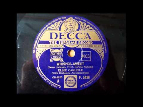 Whisper Sweet, Elsie Carlisle, 1935