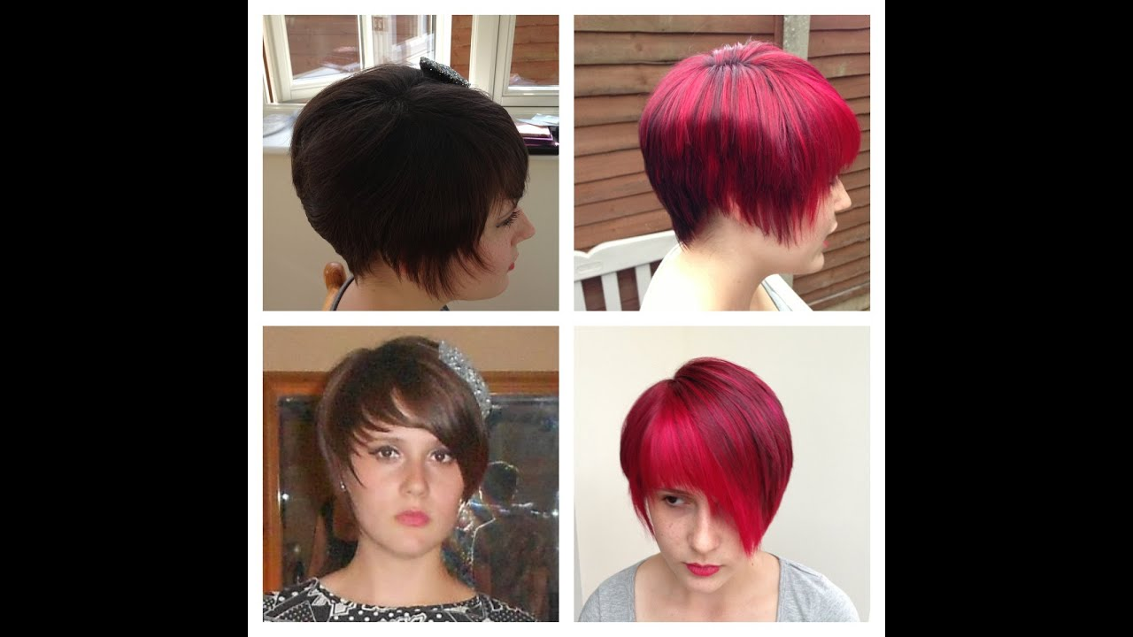 Hair Colour Make Over Using Pravana Vivids Wild Orchid And Redown