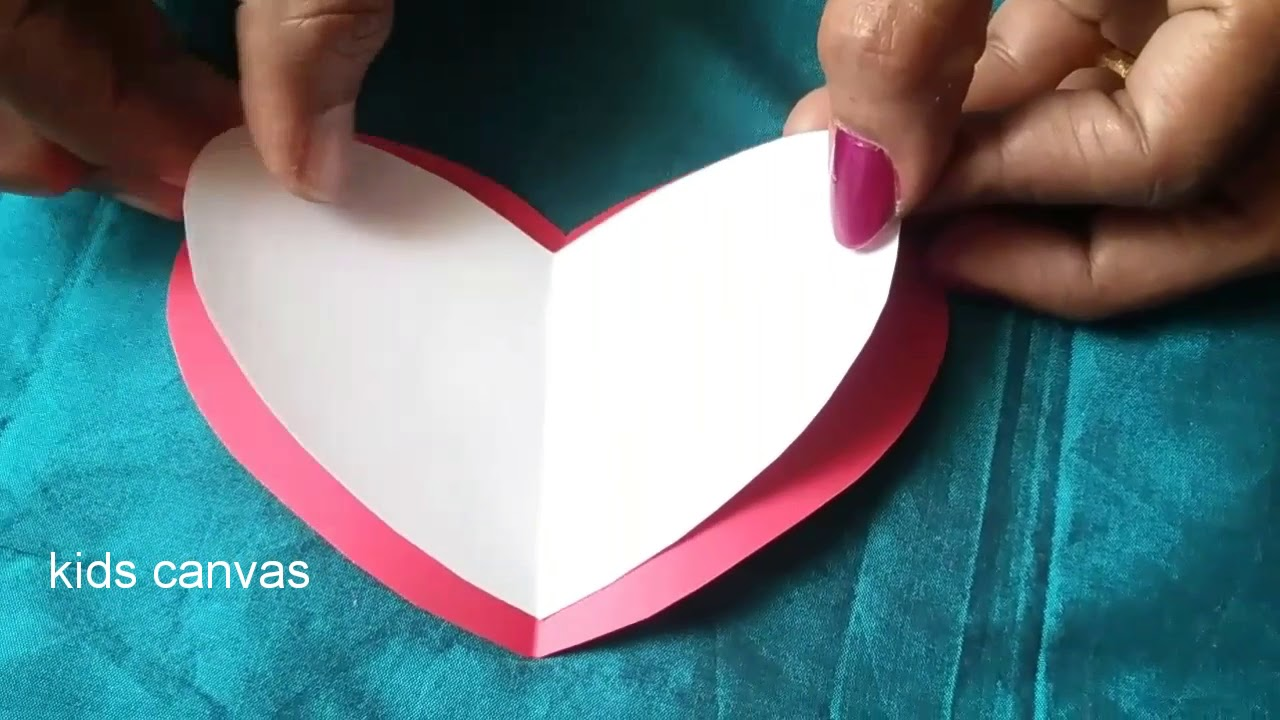 DIY Easy 3d Pop Up Card Making IdeasHeart Shape Greeting Cardhow To Make Birthday Card3d