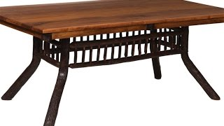 Amish Rustic Hickory Lake And Lodge Dining Table